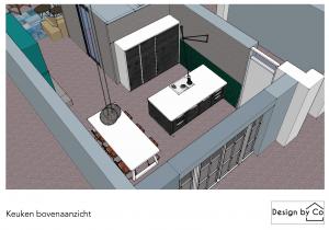 3d tekening,keuken,interieurstyling