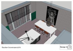 bunschoten,3d tekening,keuken,interieurstyling